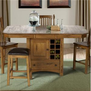 AAmerica Laurelhurst Wine Storage Gather Height Table
