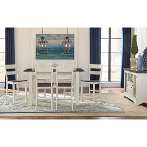 AAmerica Mariposa Counter Height Dining Room Group