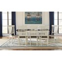 AAmerica Mariposa 9 Piece Dining Set - Item Number: MRP-CO-6-20-0+8xMRP-CO-2-65-K
