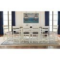AAmerica Mariposa 11 Piece Counter Height Dining Set - Item Number: MRP-CO-6-70-0+10xMRP-CO-3-55-K