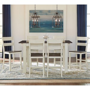 AAmerica Mariposa 7 Piece Counter Height Dining Set