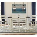 AAmerica Mariposa 7 Piece Counter Height Dining Set - Item Number: MRP-CO-6-70-0+6xMRP-CO-3-55-K