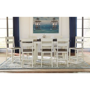 AAmerica Mariposa 9 Piece Counter Height Dining Set