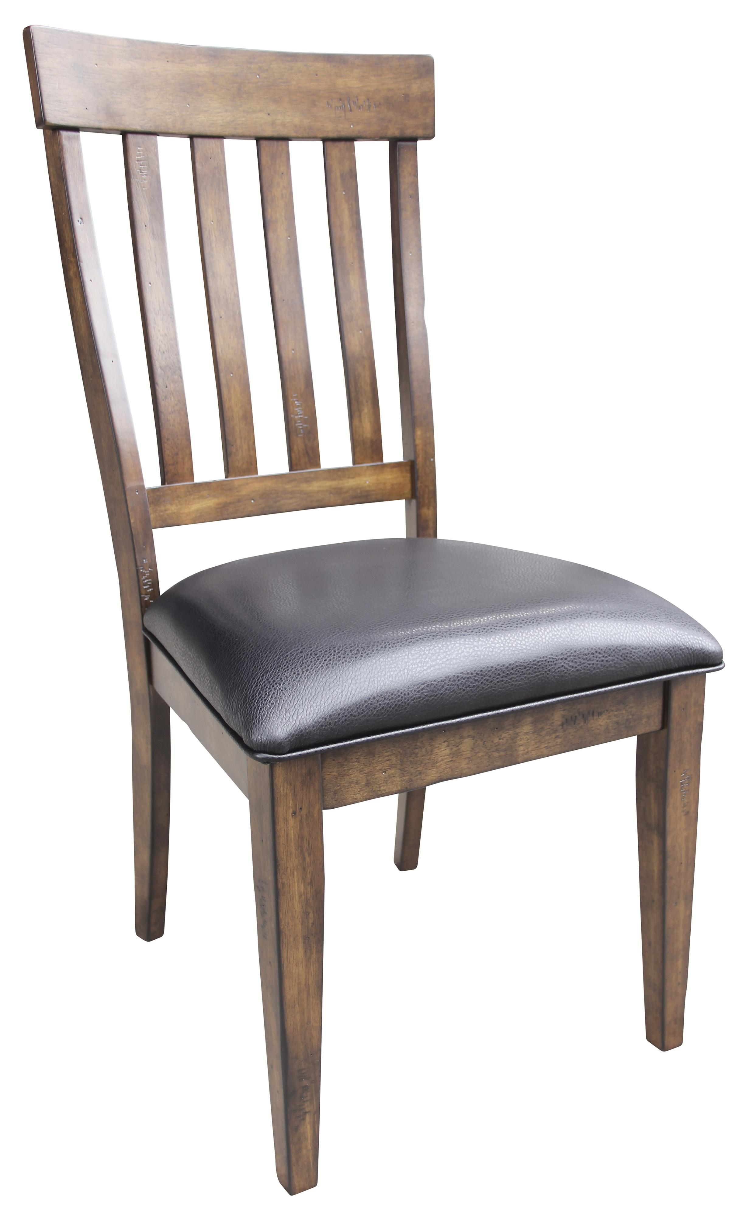 Winchester Slatback Side Chair With Upholstered Seat Ruby Gordon Furniture Mattresses