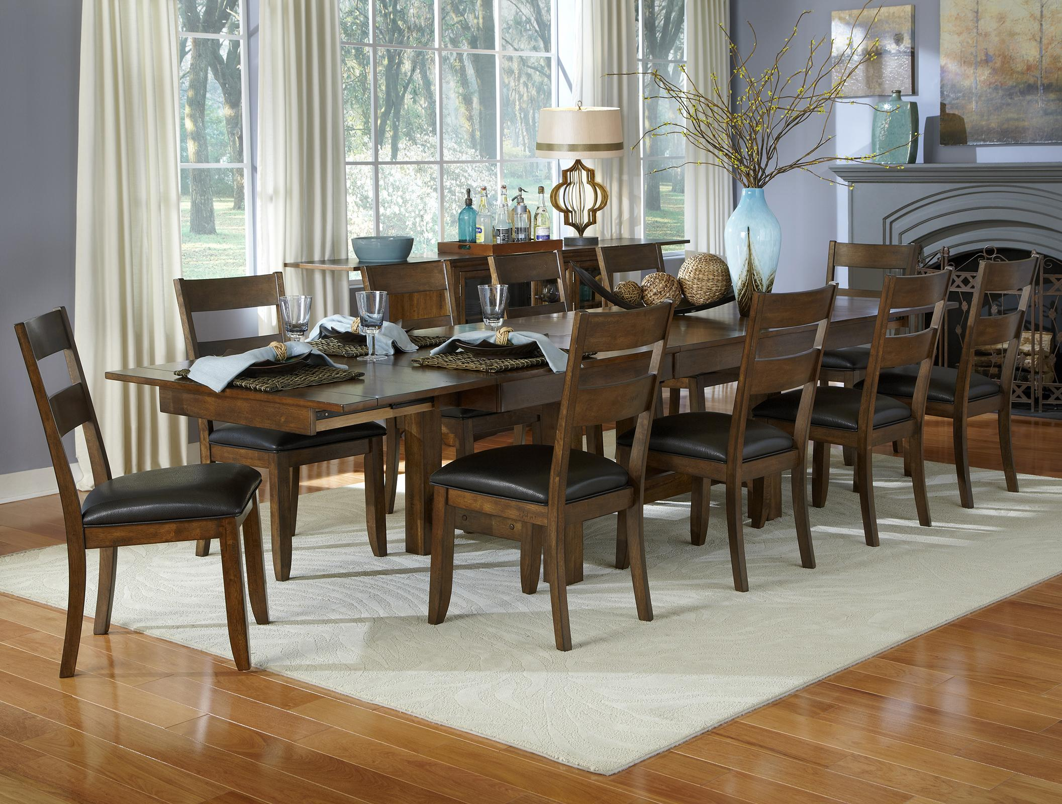 AAmerica Mariposa 11 Piece Table and Chairs Set  - Item Number: MRP-RW-6-08-0+10x2-55-K