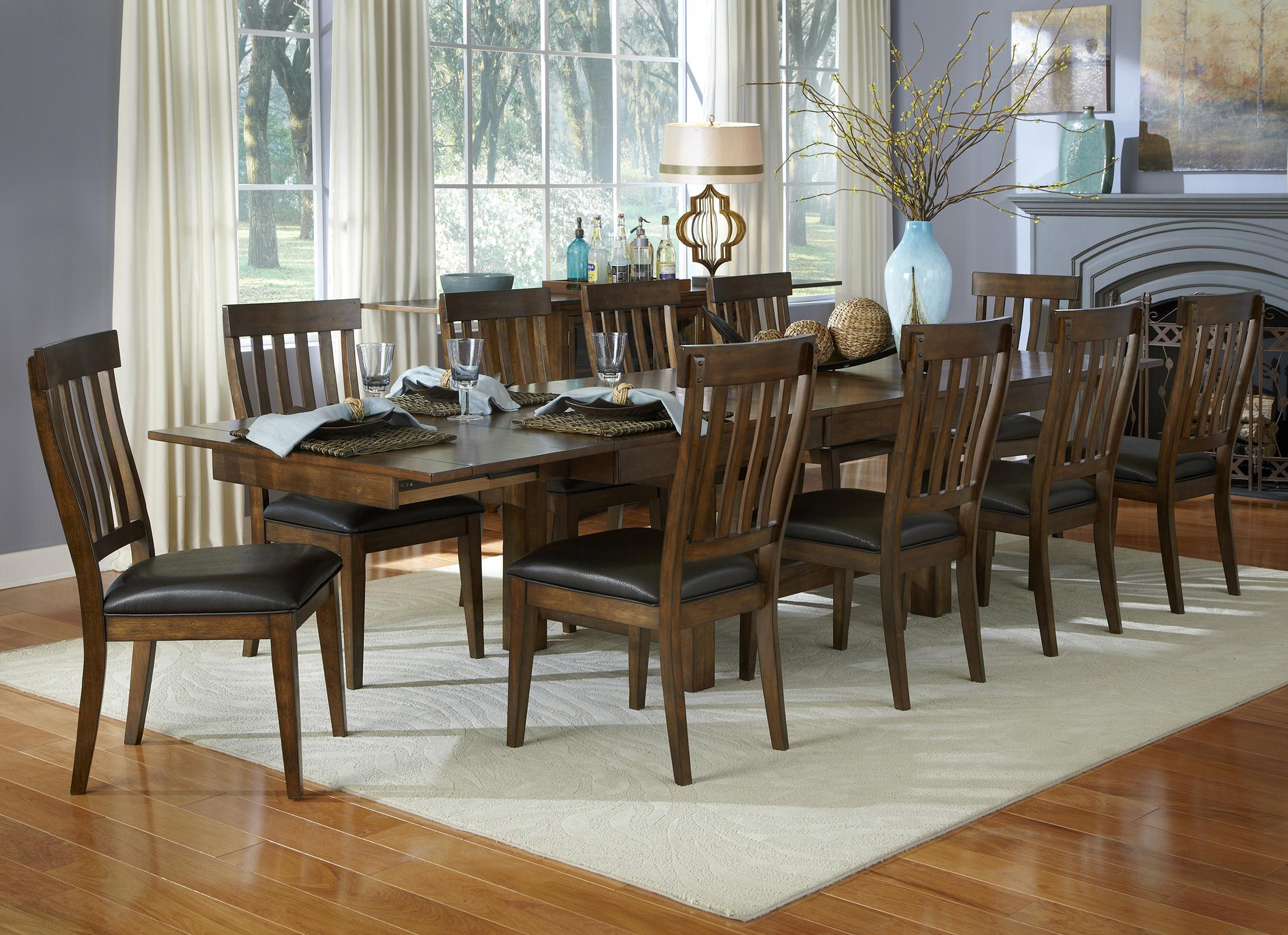 AAmerica Mariposa 11 Piece Table and Chair Set - Item Number: MRP-RW-6-08-0+10x2-65-K