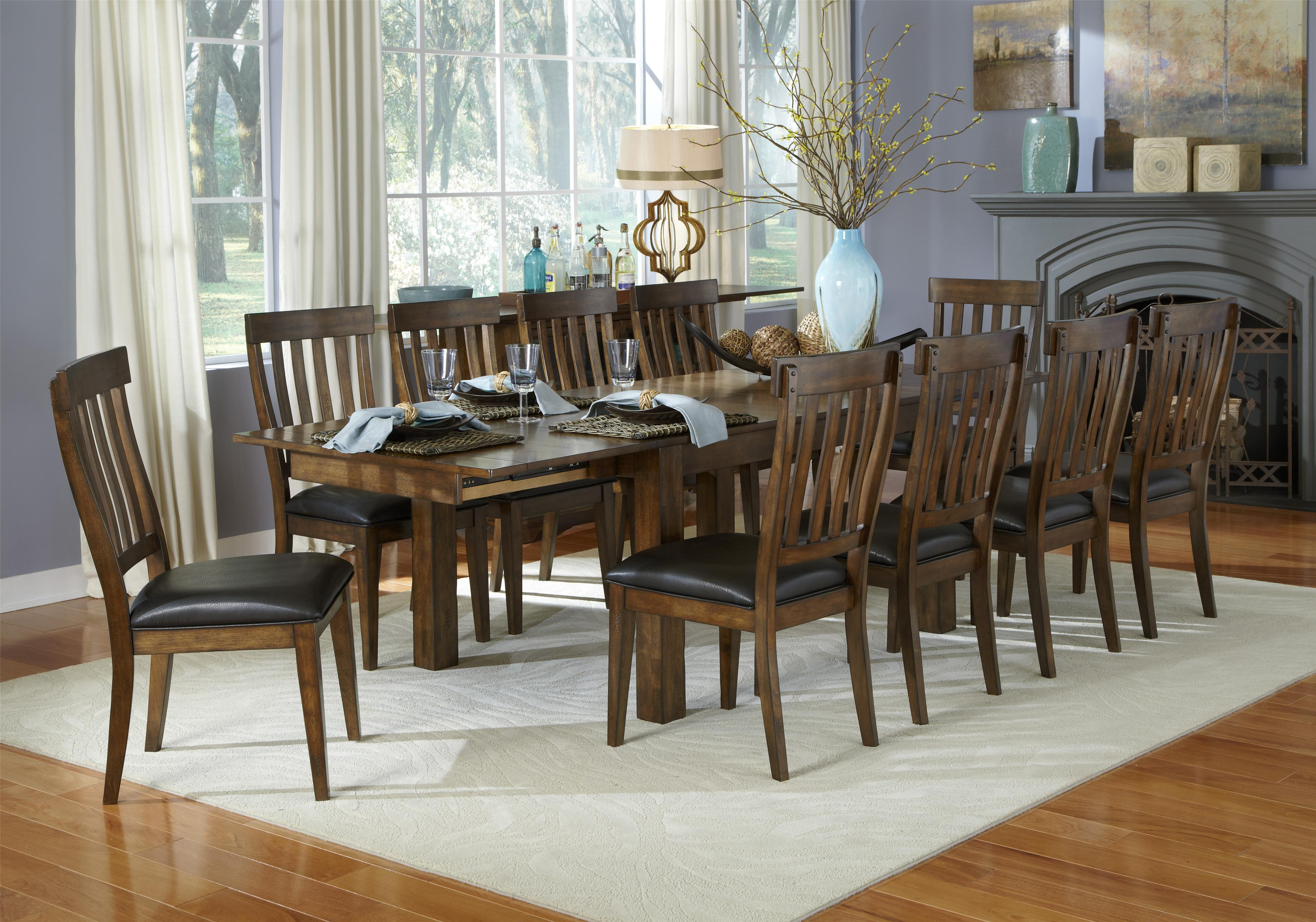 Mariposa 11 Piece Dining Table And Slatback Chairs Set By Aamerica At Rooms For Less