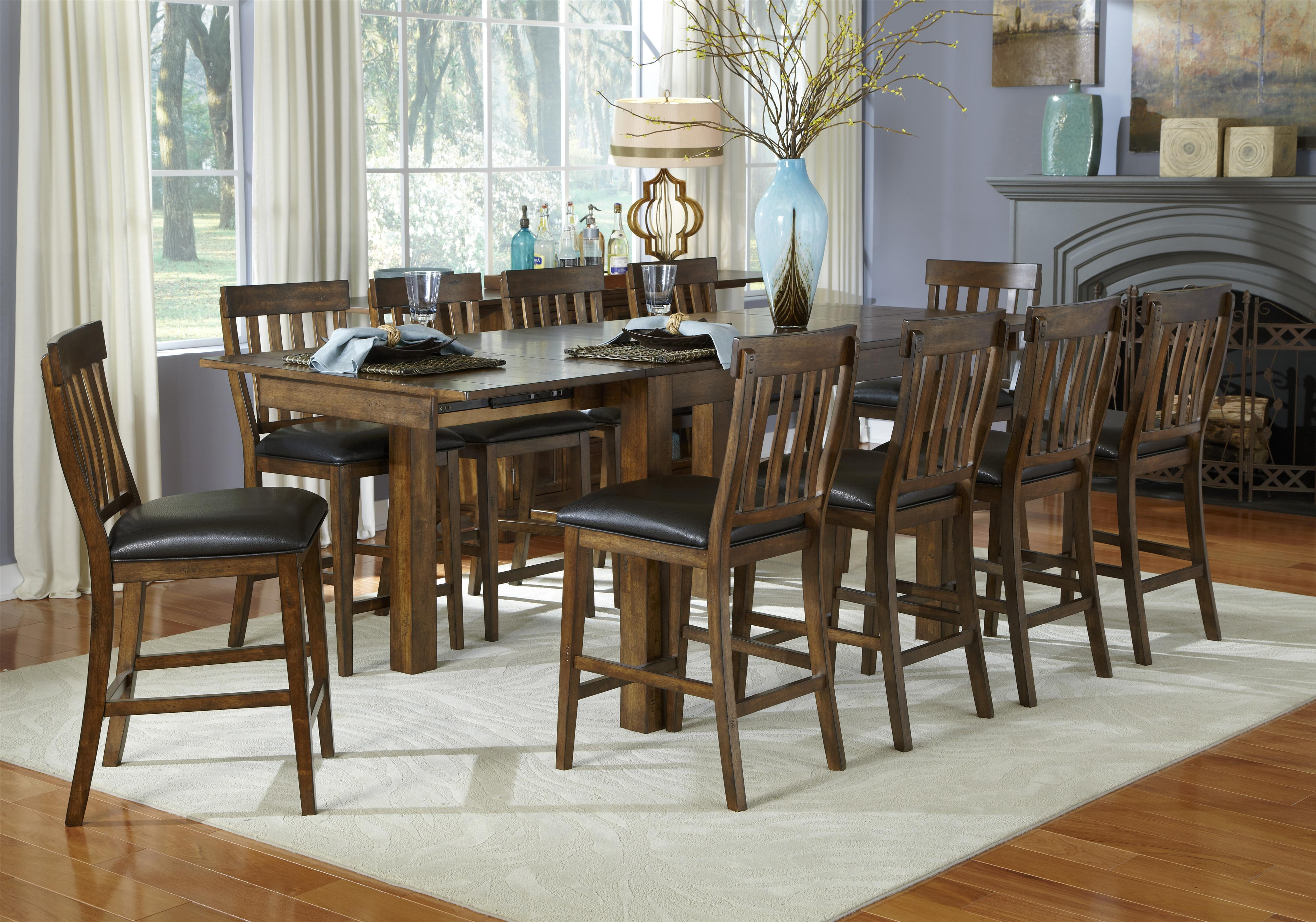 AAmerica Mariposa 11 Piece Table and Chairs Set  - Item Number: MRP-RW-6-70-0+10x3-65-K