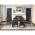 AAmerica Mariposa 7 Piece Table and Chairs Set - Item Number: MRP-WG-6-20-0+6x2-65-K
