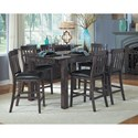AAmerica Mariposa 7 Piece Table and Chairs Set  - Item Number: MRP-WG-6-70-0+6x3-65-K