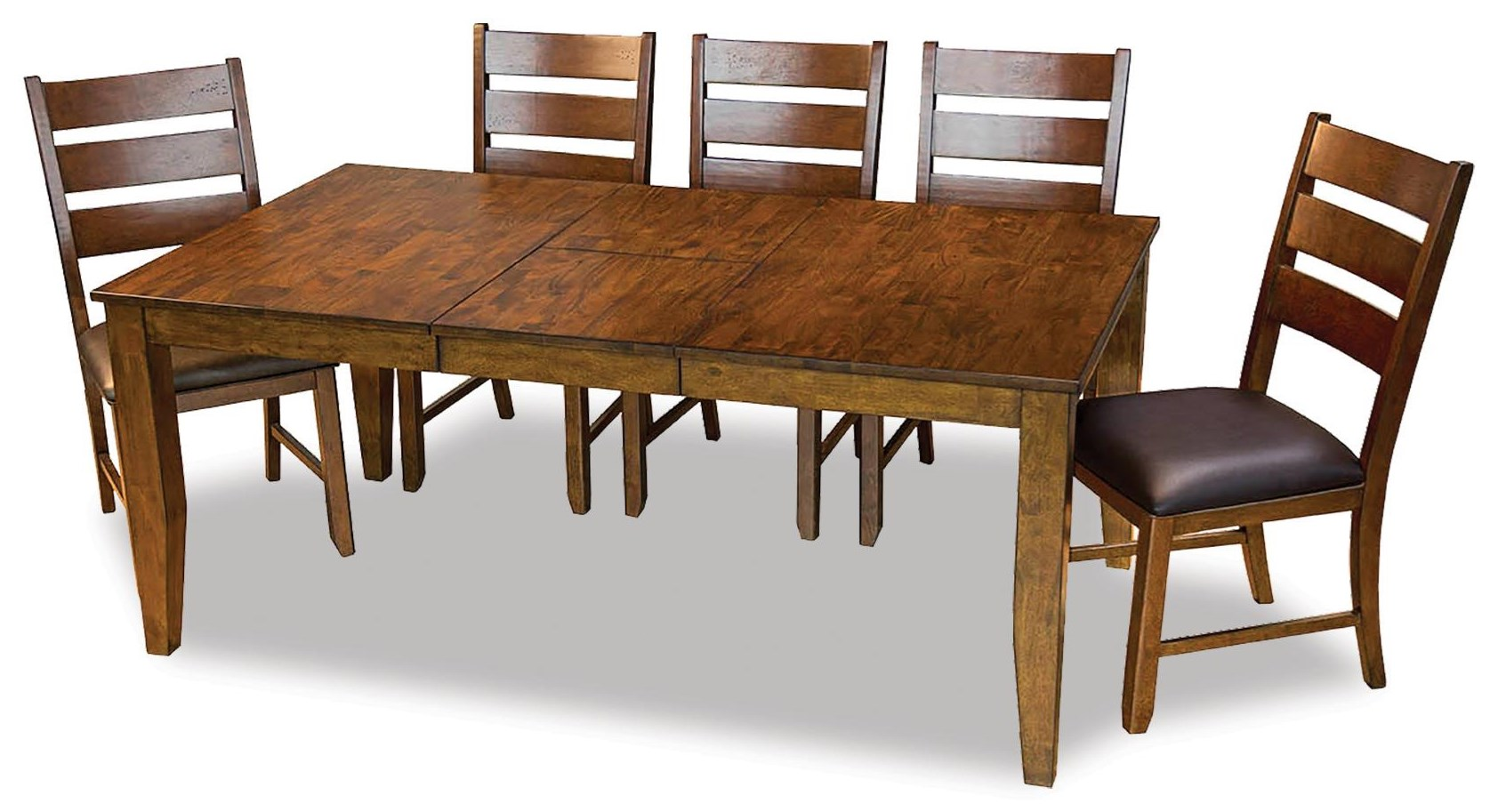 Mason Rectangular Butterfly Table With 6 Chairs by AAmerica at Johnny Janosik