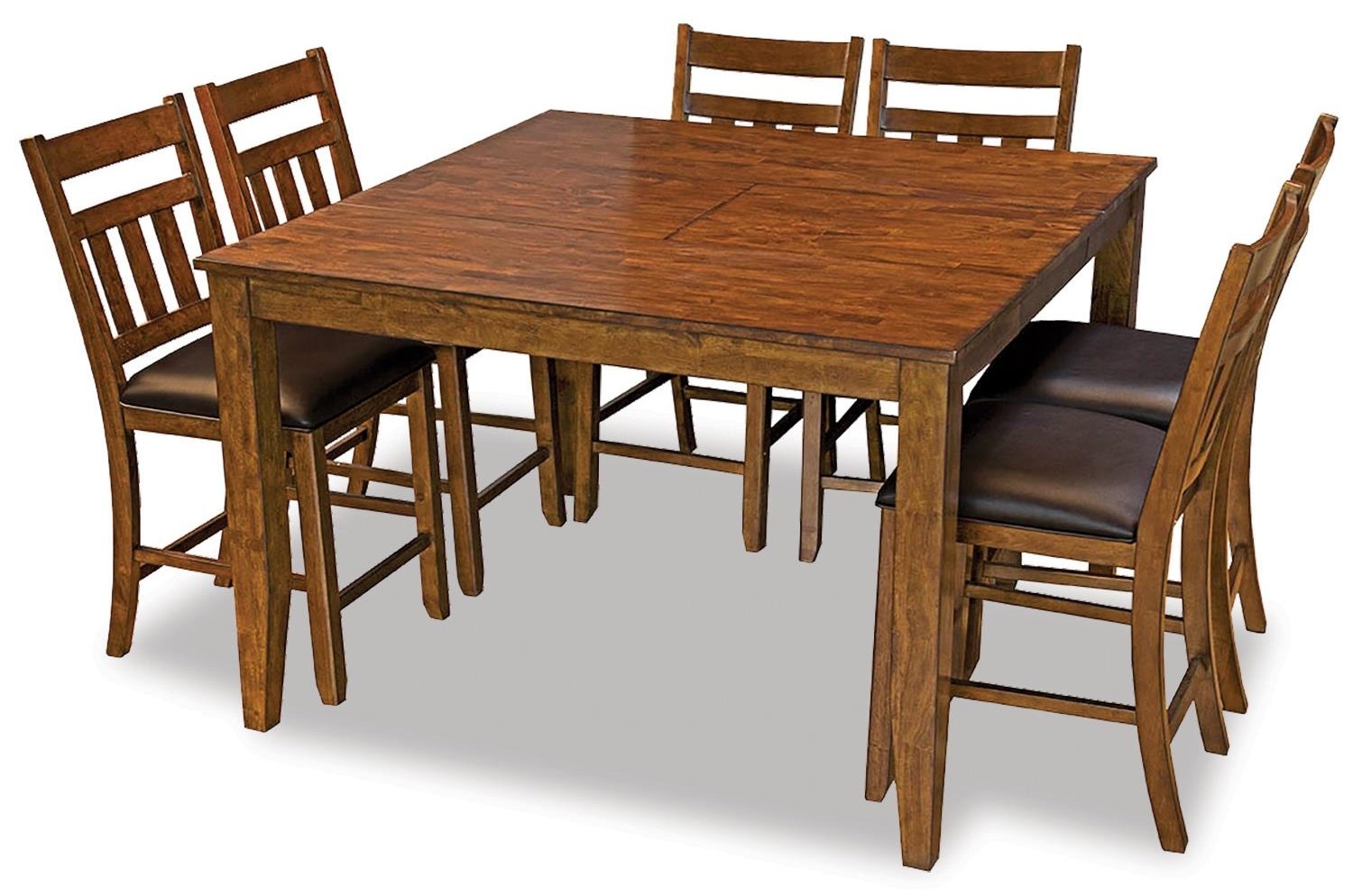 Mason Table with 6 Slatback Upholstered Side Chair by AAmerica at Johnny Janosik