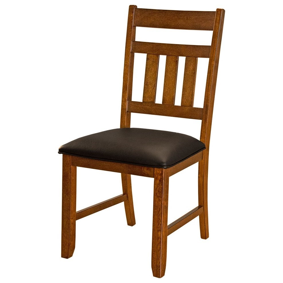 Aamerica Mason Slatback Upholstered Seat Side Chair Wayside Furniture Dining Side Chairs
