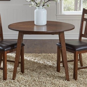 AAmerica Mason Round Drop Leaf Table