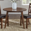 AAmerica Mason Round Drop Leaf Table - Item Number: MAS-MA-6-10-0
