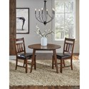 AAmerica Mason Round Drop Leaf Dining Table