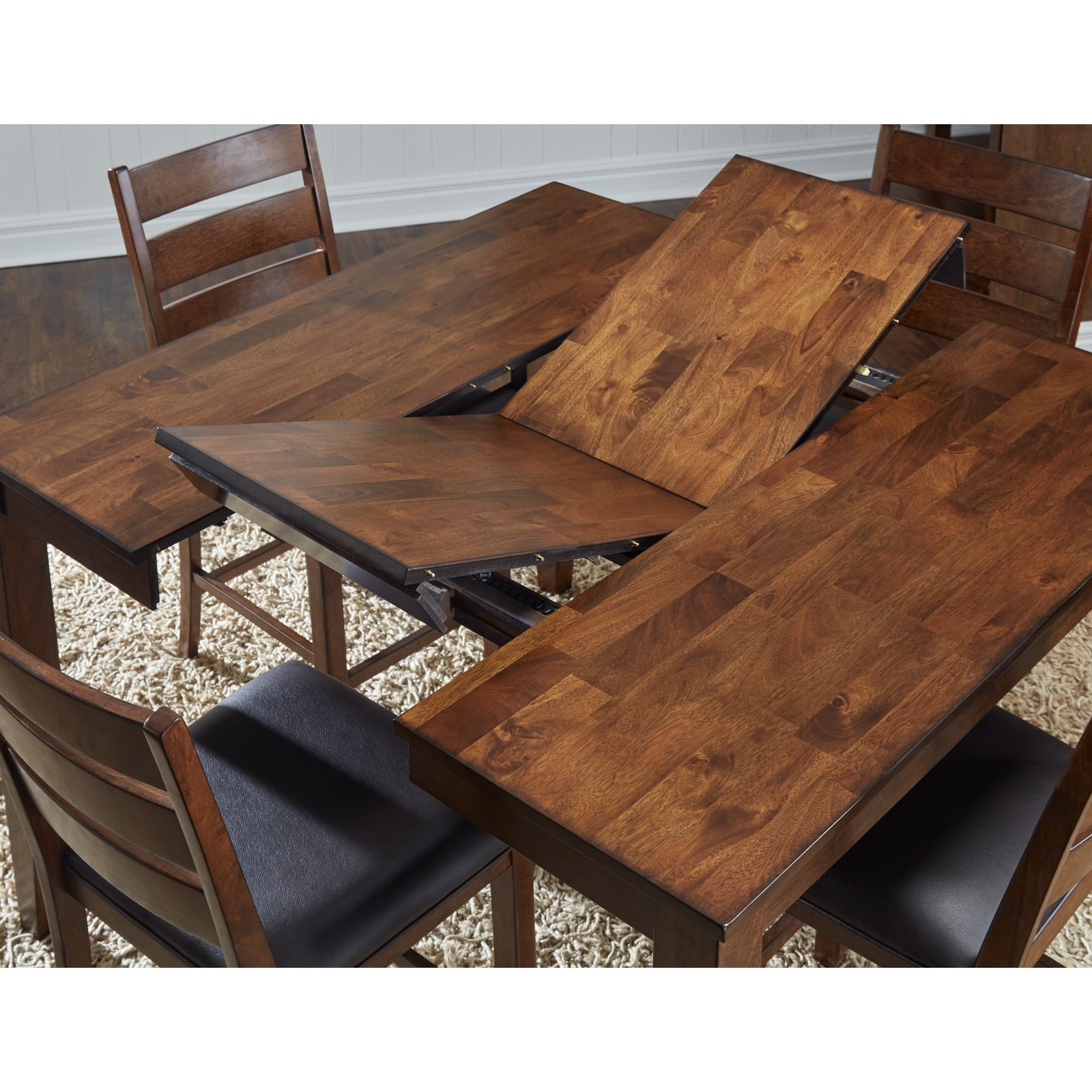 Dining Room Table With Leaf: AAmerica Mason Square Butterfly Leaf Dining Table
