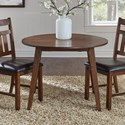 AAmerica Mason Round Drop Leaf Table - Item Number: MASMA6100