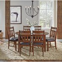 AAmerica Mason 7 Piece Dining Set - Item Number: MASMA6110+6x265K