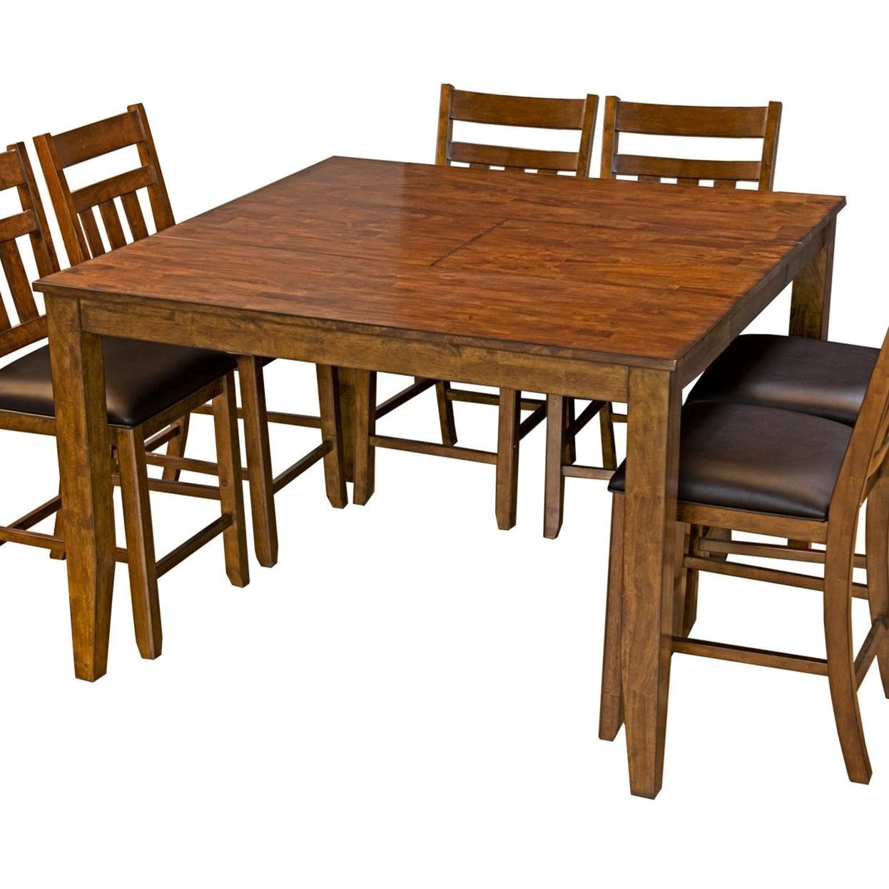 Aamerica Mason Masma6750 Square Butterfly Leaf Gathering Height Table Factory Direct Furniture Pub Tables