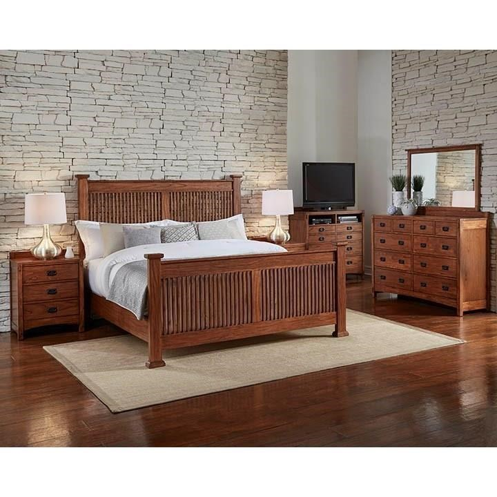 AAmerica Mission Hill 4-Piece King Bedroom - Item Number: MH-K4P