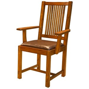 AAmerica Mission Hill Slatback Arm Chair