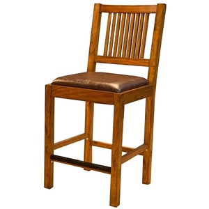 AAmerica Mission Hill Slatback Bar Stool
