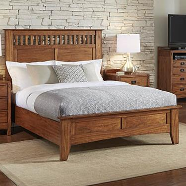 AAmerica Mission Hill King Panel Bed - Item Number: MIH-HA-5-13-0