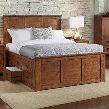 AAmerica Mission Hill King Captain Bed - Item Number: MIH-HA-5-15-1