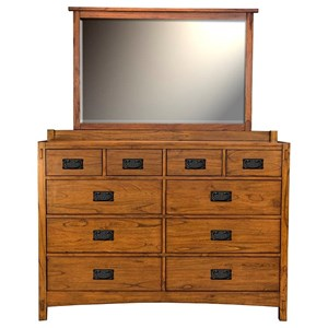 AAmerica Mission Hill Dresser and Mirror