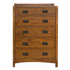 AAmerica Mission Hill 6 Drawer Chest