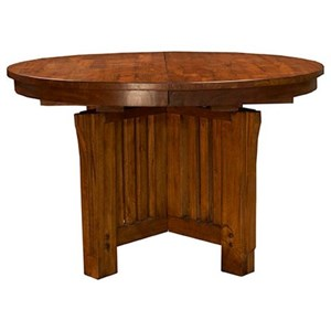 "AAmerica Mission Hill 48"" Round Extendable Table"