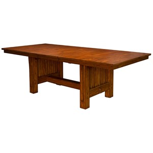 AAmerica Mission Hill Trestle Table