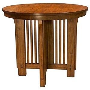 "AAmerica Mission Hill 42"" Gather Height Round Table"