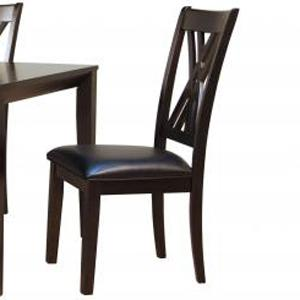AAmerica Montreal Double X Back Side Chair W/Uph Seat  - Item Number: MON-ES-2-57-K