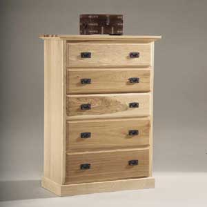 AAmerica Amish Highlands 5 Drawer Chest