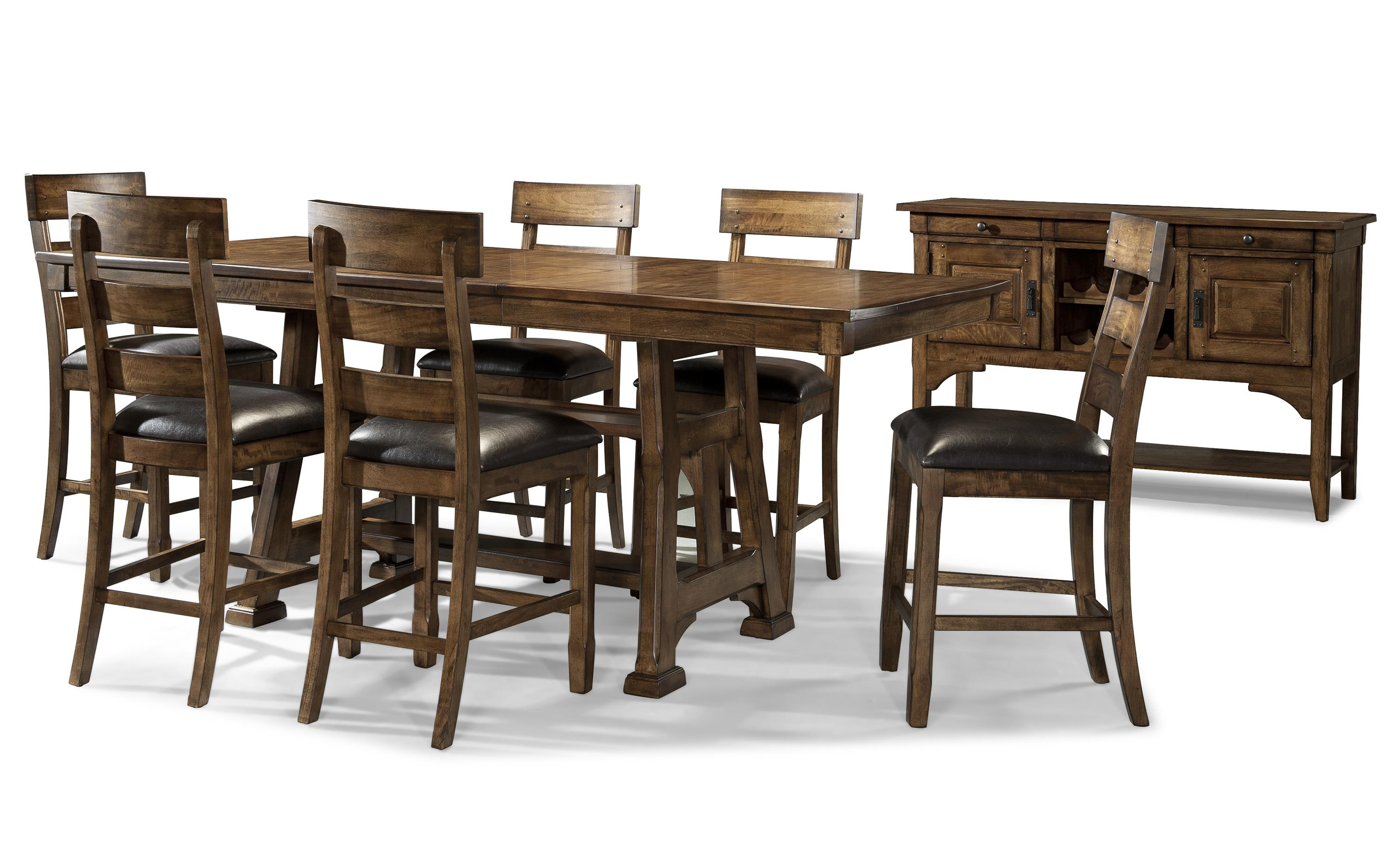 AAmerica Ozark Casual Gathering Height Dining Room Group - Item Number: OZA-MA Pub Dining Room Group 2