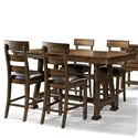 AAmerica Ozark 5 Piece Trestle Pub Table and Stool Set - Item Number: OZA-MA-6-70-0+4x3-45-K