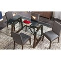 AAmerica Palm Canyon 5-Piece Table Set - Item Number: PAM-CR-6-32-0+4x2-69-K