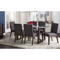 AAmerica Palm Canyon 7-Piece Table and Chair Set - Item Number: PAM-CR-6-32-0+6x2-69-K