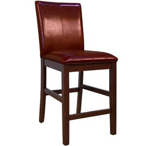 "AAmerica Parson Chairs 24"" Red Barstool"