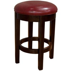 "AAmerica Parson Chairs 24"" Red Backless Swivel Barstool"