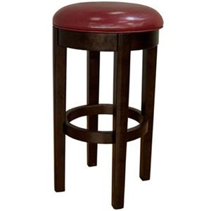 "AAmerica Parson Chairs 30"" Red Backless Swivel Barstool"
