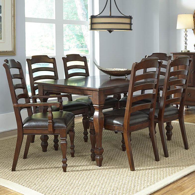 AAmerica Phinney Ridge 7 Piece Dining Table Set - Item Number: PHI-MI-6-07-0+2x2-46-K+4x2-45-K