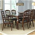 AAmerica Phinney Ridge Leg Table with Turned Legs