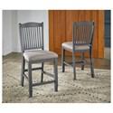AAmerica Port Townsend Slatback Upholstered Stool - Item Number: POT-SP-3-45-K
