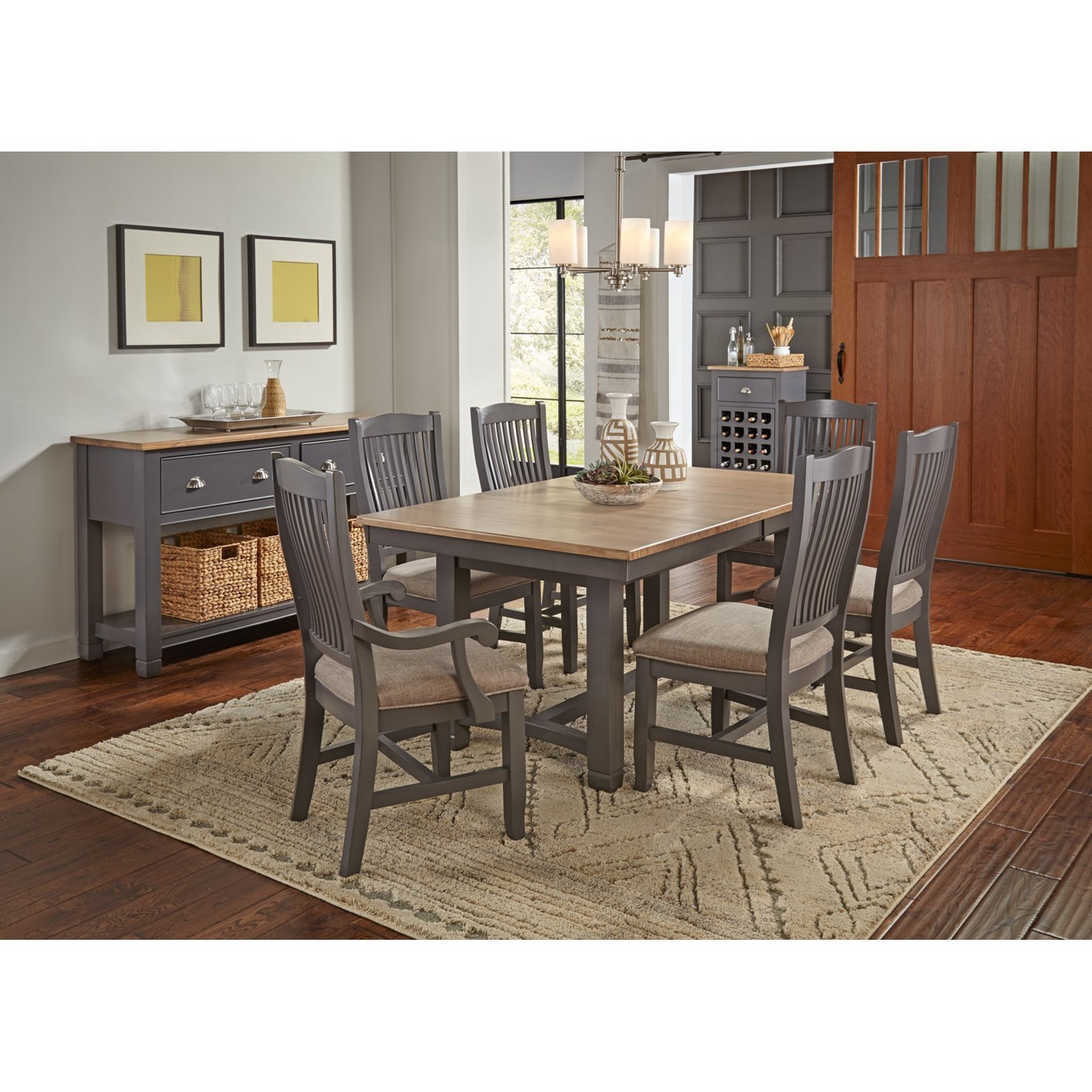 trestle dining room tables   AAmerica Port Townsend Rectangular Trestle Dining Table ...