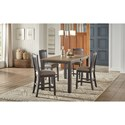 AAmerica Port Townsend 5-Piece Gathering Height Table and Chair Set - Item Number: POT-SP-6-70-0+4x3-45-K