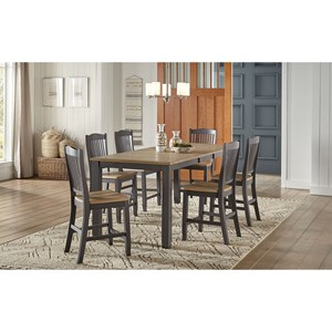 7-Piece Gathering Height Table and Chair Set