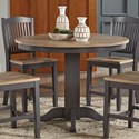 AAmerica Port Townsend Gather Height Pedestal Table - Item Number: POT-SP-6-75-0